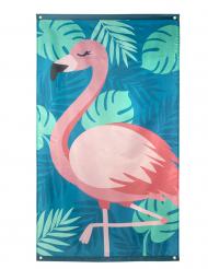 Tropische Flamingo-Flagge Sommerparty blau-rosa 150 x 90 cm