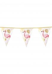 Flamingo-Partygirlande mit Palmen-Motiv bunt 4 m