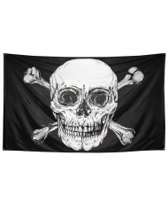 Piratenflagge Jolly Roger Partydeko schwarz-weiss 300 x 200 cm