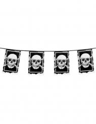 Jolly Roger Piraten-Girlande Seeräuber-Raumdeko schwarz-weiss 30 x 20 cm