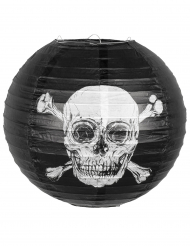 Jolly Roger-Laterne Piraten-Deko Halloween schwarz-weiss 25 cm