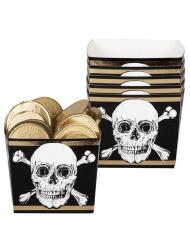Piraten-Papp-Boxen Snack-Boxen Piraten-Geburtstag 6 Stück 400 ml