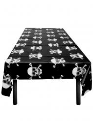 Wilde Piraten-Tischdecke für Mottopartys Totenköpfe schwarz-weiss