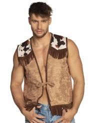 Cowboy-Weste für Herren Kostümzubehör braun-weiss