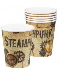 Steampunk-Pappbecher 6-Stück 250 ml