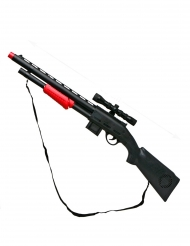 Spielzeug Gewehr schwarz-rot Kunststoff 68 cm