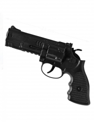 Spielzeug-Pistole Waffe für Karneval Ganoven-Zubehör schwarz 21cm
