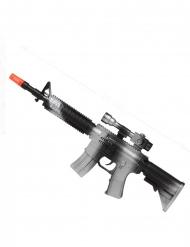 Spielzeug Maschinengewehr schwarz-silber 45 cm