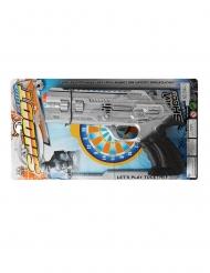 Polizei-Spielzeugpistole für Karneval Kostümzubehör grau-schwarz