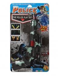 Spielzeug Polizei-Pistole Kunststoff schwarz-grün