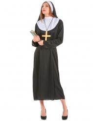 Nonnen-Kostüm in Übergröße Damenkostüm für Karneval schwarz-weiss