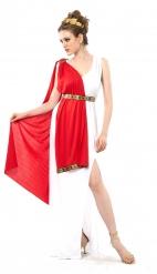 Römisches-Damenkostüm in Übergröße XXL Karnevals-Kostüm rot-weiss-gold
