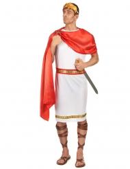Römisches-Kostüm für Herren in Übergröße Cäsar XXL rot-weiss-gold