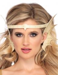 Meerjungfrau-Kopfschmuck mit Ohren Kostümzubehör gold