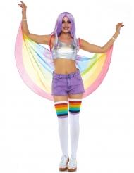 Regenbogen Umhang für Erwachsene pastellfarben