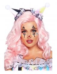 Strasssteine Gesichts-Make-up Harlekin bunt