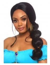 Orientalische Prinzessinnen-Perücke für Damen schwarz