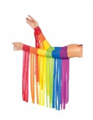 Fransen-Stulpen Regenbogenfarben für Erwachsene