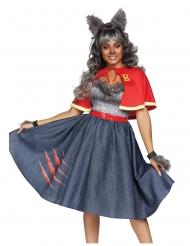 Sexy Werwolf Schulmädchen Kostüm für Damen Halloween