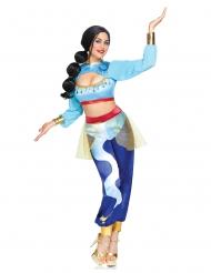 Hochwertiges Dschinnie-Damenkostüm für Karneval blau