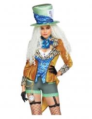 Hutmacherin-Damenkostüm für Karneval Film-Verkleidung bunt