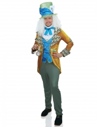 Hutmacher-Herrenkostüm für Karneval Film-Verkleidung blau-gelb