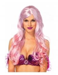 Meerjungfrau-Perücke Kostüm-Accessoire Pastell fliederfarben-rosa