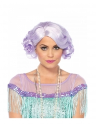 20er Jahre Perücke für Damen Kostümzubehör Pastell-Lila