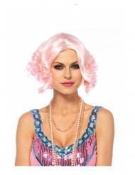 Meerjungfrauen-Perücke für Damen kurzhaar in Rosa