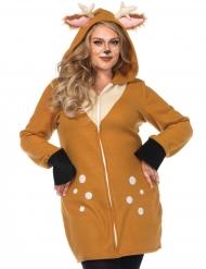 Reh-Kostüm Damenkostüm in Übergröße braun-weiss
