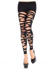 Leggings mit Löchern Kostüm-Accessoire für Damen schwarz