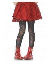Strumpfhose Kostümzubehör für Mädchen Spinnennetze schwarz