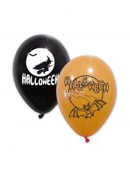 Latexballons für Halloween Raumdekoration 10 Stück schwarz-weiss-orange