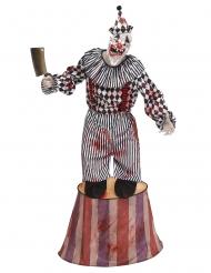 Winziger-Horrorclown auf Podest Halloween-Kostüm weiss-schwarz-rot