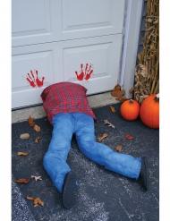 Geköpfte Leiche Horror-Deko für Halloween blau-rot