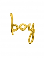 BOY Folienballon gold 63,5 x 74 cm