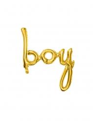 BOY Folienballon gold 63,5 x 74 cm