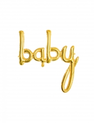 BABY Folienballon gold 73,5 x 75,5 cm