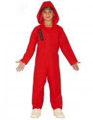 Bankräuber-Kostüm für Kinder Serienfigur Rot-schwarz
