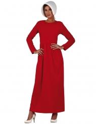 Magd-Kostüm für Damen Dienstmädchen rot-weiss