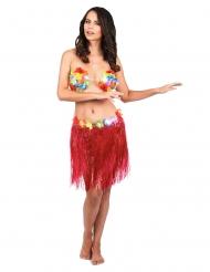 Hawaiirock für Damen kurz rot