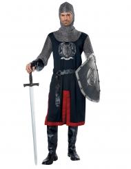 Ritter-Kostüm für Herren mittelalterliche-Verkleidung blau-rot-silber