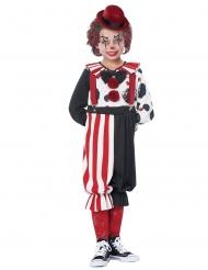 Stilvolles Clownkostüm für Kinder Zirkus-Verkleidung rot-schwarz-weiss