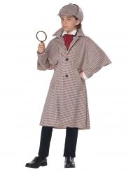 Sherlock Detektiv-Kostüm für Kinder braun-beige