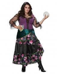 Wahrsagerinnen-Kostüm für Damen in Übergröße bunt