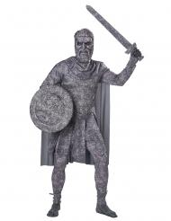 Versteinerter Soldat der Antike Herrenkostüm grau