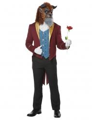 Biest-Kostüm für Herren Prinzen-Kostüm für Fasching blau-rot-gold