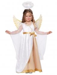 Himmlisches Engelkostüm Krippenspiel-Verkleidung weiss-gold