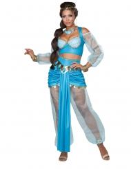 Orientalische Prinzessin Damenkostüm für Karneval türkis-goldfarben