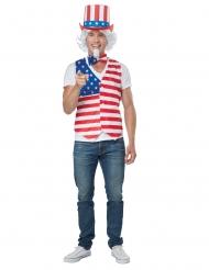 Amerikanisches-Kostüm für Herren Karnevals-Verkleidung rot-weiss-blau